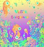 Wektorowy doodle tło z przestrzenią dla twój teksta Obraz Royalty Free