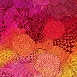 Wektorowy doodling tło pociągany ręcznie układ, fala tło, czochrał ornament, jesień barwi ilustracja wektor