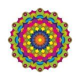 Wektorowy dorosły kolorystyki książki kurendy wzoru mandala kwiat barwił - kwiecistego tło Fotografia Royalty Free