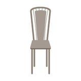 Wektorowy Drewniany krzesło Odizolowywający na białym tle obrazy stock