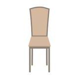 Wektorowy Drewniany krzesło Odizolowywający na białym tle fotografia stock
