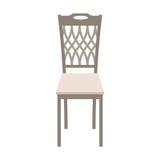 Wektorowy Drewniany krzesło Odizolowywający na białym tle Zdjęcia Stock