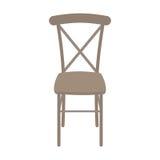 Wektorowy Drewniany krzesło Odizolowywający na białym tle fotografia royalty free