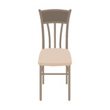 Wektorowy Drewniany krzesło Odizolowywający na białym tle Zdjęcie Royalty Free