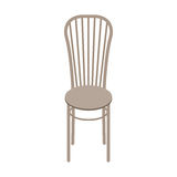 Wektorowy Drewniany krzesło Odizolowywający na białym tle Obraz Royalty Free
