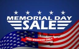 Wektorowy dzień pamięci sprzedaży sztandaru szablonu projekt Dzień Pamięci sprzedaży tło Obraz Stock