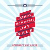 Wektorowy dzień pamięci sprzedaży tło Szablon dla dnia pamięci projekta Fotografia Royalty Free