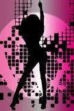 Wektorowy dziewczyna taniec w klubie z błyskiem Ilustracja Wektor