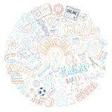 Wektorowy edukaci i nauki tło Obraz Royalty Free