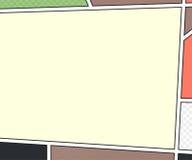 Wektorowy egzamin próbny komiks strona wystrzał sztuki styl Zdjęcia Stock