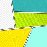 Wektorowy egzamin próbny typowa komiks strona Zdjęcie Stock