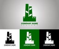 Wektorowy ekologia logo z różnymi tło opcjami royalty ilustracja