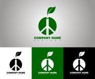 Wektorowy ekologia logo z różnymi tło opcjami ilustracja wektor