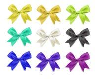 Wektorowy elegancki bowtie Realistyczni barwioni 3d projekta elementy Fotografia Royalty Free