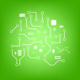 Wektorowy elektroniki tło Fotografia Stock