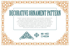 Wektorowy element kwitnie dla projekta, tworzący granicy, ramy i tła, Trzy muśnięcia zawierać Obraz Royalty Free