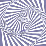 Wektorowy fiołek i biały abstrakcjonistyczny złudzenia tło Ilustracja Wektor
