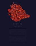 Wektorowy Fox lub Wilcza projekt ikony loga luksusu czerwień Obraz Stock