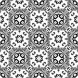 WEKTOROWY GEOMETRICAL CZARNY bielu wzoru projekt fotografia stock