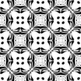 WEKTOROWY GEOMETRICAL CZARNY bielu wzoru projekt obraz stock