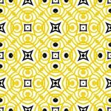 Wektorowy geometryczny art deco wzór w kolorze żółtym Zdjęcia Stock