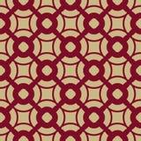 Wektorowy geometryczny bezszwowy wzór w azjata stylu Czerwony i złocisty tradycyjni chińskie ornament royalty ilustracja