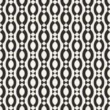 Wektorowy geometryczny bezszwowy wzór z gładkimi ovate kształtami, łańcuchy, arkany ilustracja wektor