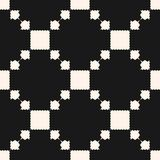 Wektorowy geometryczny bezszwowy wzór z kwadratami, strzępiaści kształty, siatka, powtórek płytki Ornamentacyjny etniczny motyw ilustracja wektor
