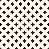 Wektorowy geometryczny bezszwowy wzór z rhombuses, wyginającymi się Zdjęcia Stock