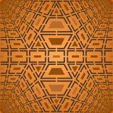 Wektorowy geometryczny brązu wzór Zdjęcie Royalty Free
