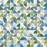 Wektorowy geometryczny kolorowy tekstylny abstrakcjonistyczny bezszwowy wzór, squ ilustracja wektor