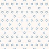 Wektorowy geometryczny minimalistyczny bezszwowy wzór z gwiazdami Bławy i biały royalty ilustracja