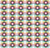 Wektorowy Geometryczny ornament Bezszwowy wzór dla tła, tapety, tekstylnego druku, opakowania, etc, royalty ilustracja