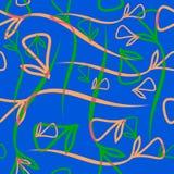 Wektorowy geometryczny pastelu wzór od rostowej brzoskwini e i mennicy Zdjęcie Stock