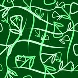 Wektorowy geometryczny pastelu wzór od warzywo zieleni el i mennicy Fotografia Royalty Free