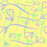 Wektorowy geometryczny pastelu wzór robić od rośliny błękitnego i nowego el Fotografia Stock