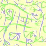 Wektorowy geometryczny pastelu wzór rostowy błękitny i zielony ele Obraz Stock