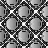 Wektorowy geometryczny tło z pierścionkami i kwadratową siatką tafluje bezszwowego wzór ilustracja wektor