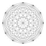 Wektorowy geometryczny tło Fotografia Stock