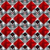 Wektorowy geometryczny tradycyjny Skandynawski ornament Prosty ornamentacyjny bezszwowy wzór Ludowy etniczny motyw Abstrakt royalty ilustracja
