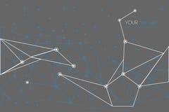 Wektorowy geometryczny wieloboka tło ilustracja wektor