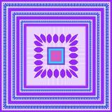 Wektorowy geometryczny wzór dla projekta szalika, hijab, szalik, płytka ilustracja wektor