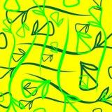 Wektorowy geometryczny wzór od warzywo zieleni i zieleń elementów Zdjęcia Stock
