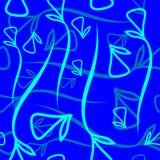 Wektorowy geometryczny wzór robić od roślina błękitnych i nowych elementów Obraz Royalty Free