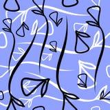 Wektorowy geometryczny wzór robić od roślina czarny i biały elementu Zdjęcie Royalty Free