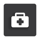 Wektorowy glansowany medyczny sieci ikony projekta element Obrazy Stock