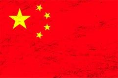 Wektorowy grunge Chiny flaga tło Fotografia Royalty Free