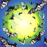 Wektorowy grunge uderza latanie w nocy Obraz Royalty Free