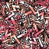 Wektorowy grunge wzór z doodles i skrobaninami royalty ilustracja