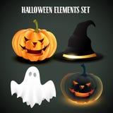 Wektorowy Halloween set Obrazy Royalty Free